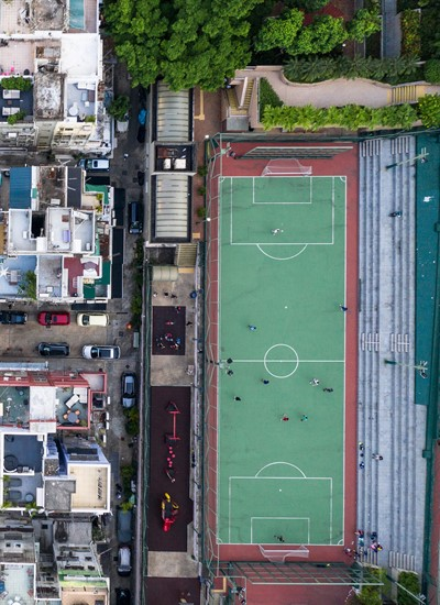 Football Pitch Drone